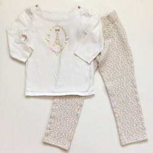 Janie and Jack Paris Brocade Shirt and Pant Set